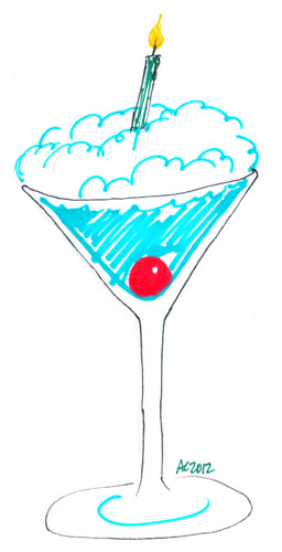 Sharpie Birthday Cocktail sketch by Amy Crook