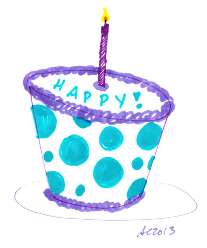Sharpie Happy Cake by Amy Crook
