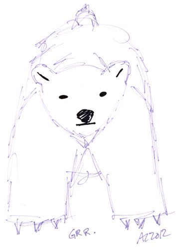 Sharpie Polar Bear sketch by Amy Crook
