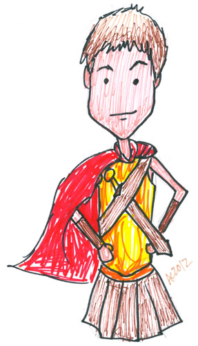 Sharpie Rory the Centurion sketch by Amy Crook