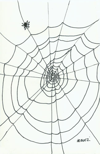 Sharpie Spiderweb sketch by Amy Crook