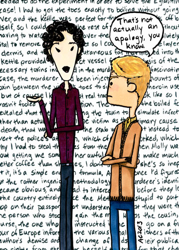 Non-Apology, a Sherlock comic by Amy Crook