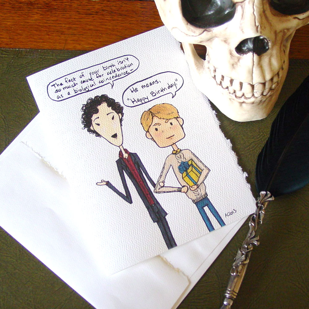 Sherlock Birthday card by Amy Crook