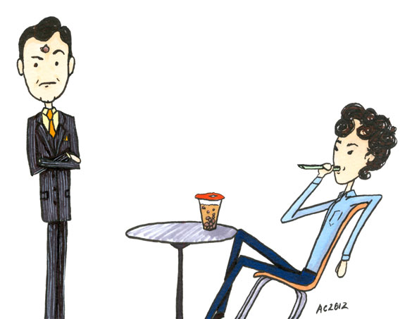 Sherlock Discovers Bubble Tea comic by Amy Crook
