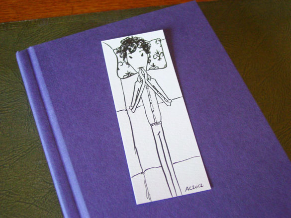 Sherlock Bookmark 5, with book, by Amy Crook