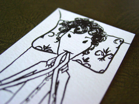 Sherlock Bookmark 5, detail, by Amy Crook