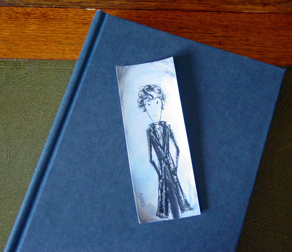 Sherlock Bookmark 8, with book, by Amy Crook