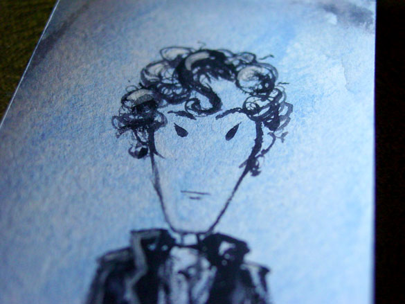 Sherlock Bookmark 8, detail, by Amy Crook