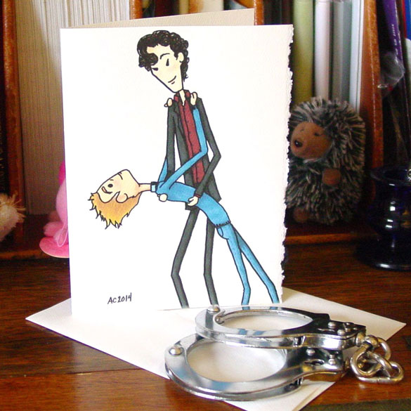Sherlock Dancing Lessons greeting card by Amy Crook on Etsy