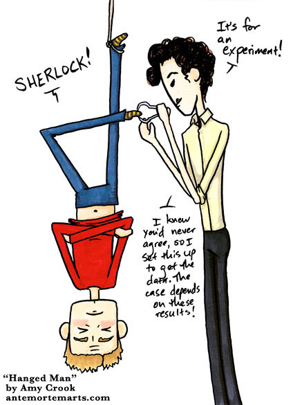 Hanged Man, a Sherlock parody comic by Amy Crook
