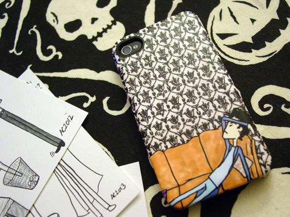 Sherlock Gelaskin iPhone Hardcase, art by Amy Crook
