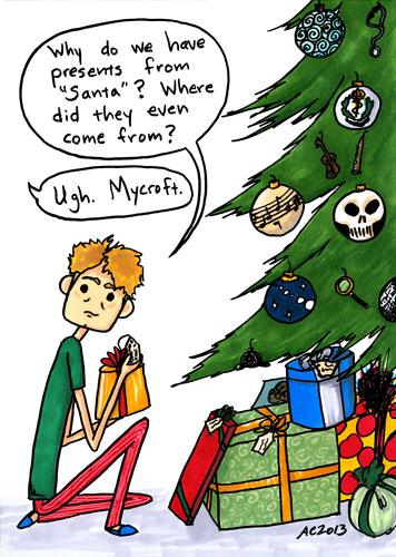 Secret Santa, a Sherlock parody comic by Amy Crook