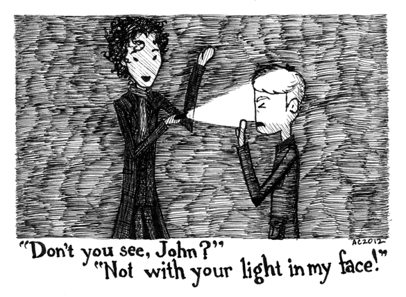 """Do you see, John?"" - a Sherlock comic by Amy Crook"