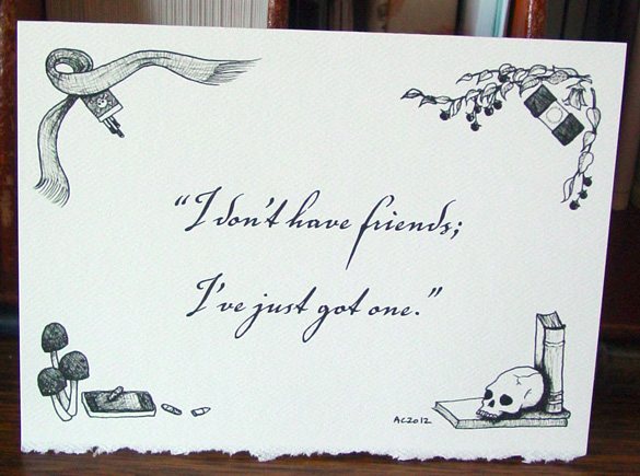 Sherlock BBC quote cards with art by Amy Crook