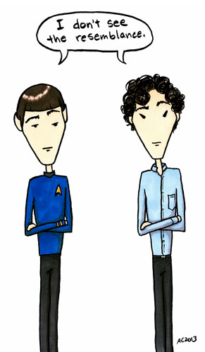 No Resemblance, a Spock &amp; Sherlock comic by Amy Crook