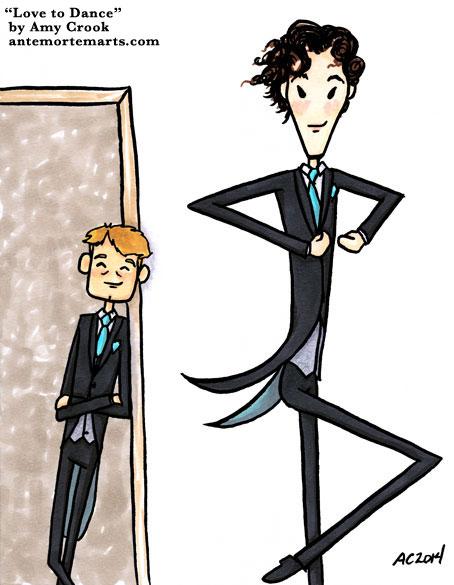 Love to Dance, a Sherlock comic by Amy Crook