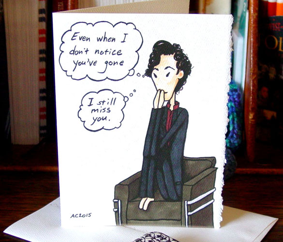 Missing You, a Sherlock Valentine by Amy Crook on Etsy