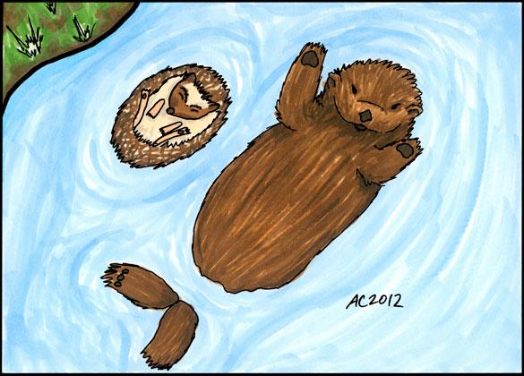 Floating Along, dorky fan art by Amy Crook
