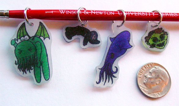 Shrinky Dinks, set 1, by Amy Crook
