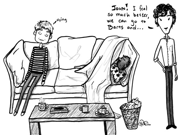The Death of Me, 6 of 6, a Sherlock comic by Amy Crook