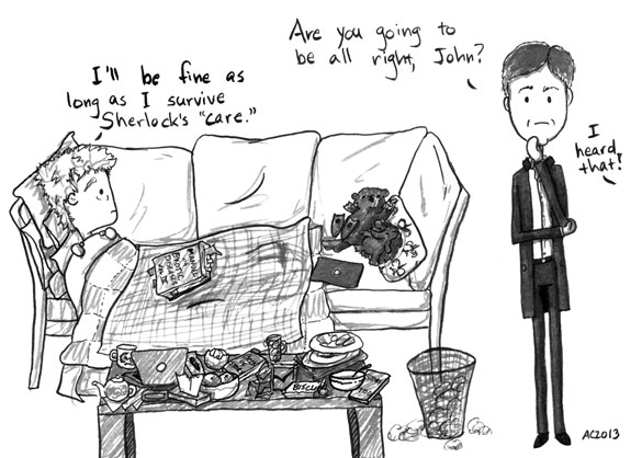 The Death of Me, Too, 5 of 6, a Sherlock comic by Amy Crook
