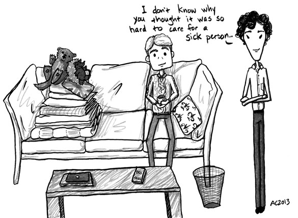 The Death of Me, Too, 6 of 6, a Sherlock comic by Amy Crook