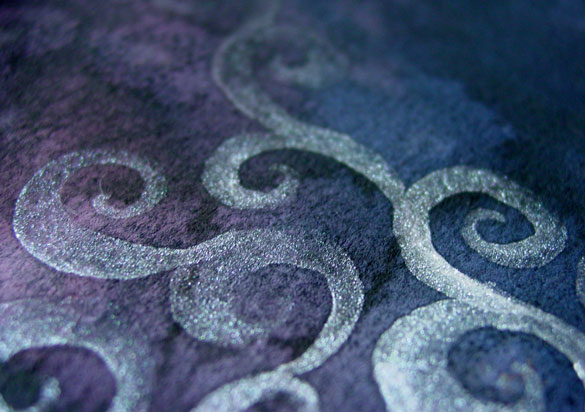 Silver Filigree, detail, by Amy Crook