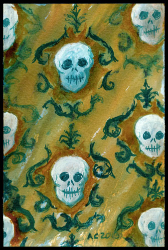 Skull Paper by Amy Crook
