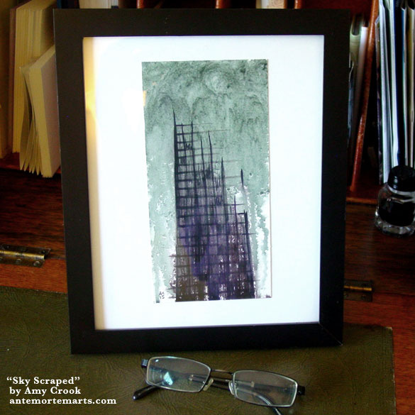 Sky Scraped, framed art by Amy Crook