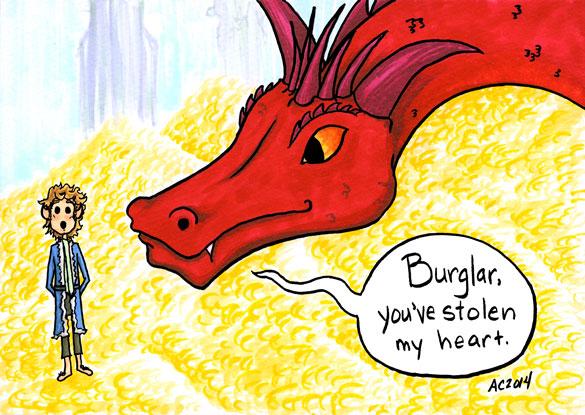 Burglar, The Hobbit parody comic by Amy Crook