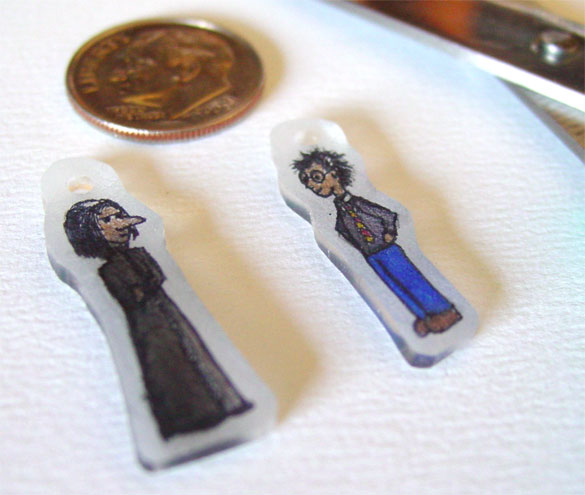 Snape and Harry Shrinky Dinks by Amy Crook