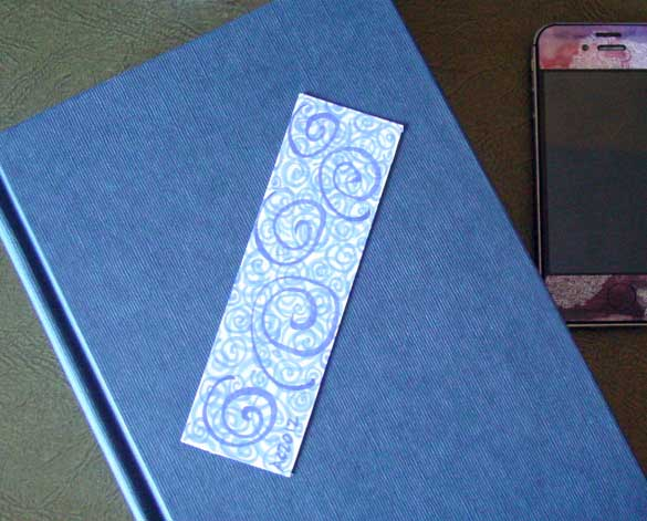 Spiral Bookmark 2, with book, by Amy Crook