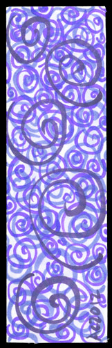 Spiral Bookmark 2 by Amy Crook