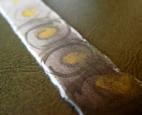 Spiral Bookmark 3, detail, by Amy Crook