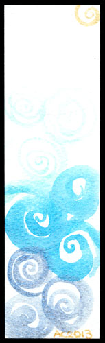 Spiral Bookmark 6 by Amy Crook