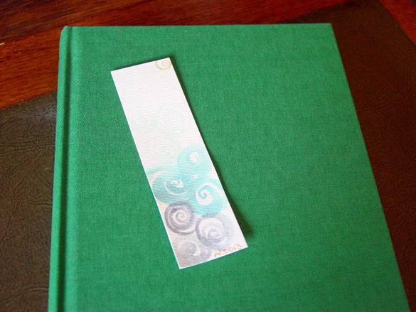 Spiral Bookmark 6, with book, by Amy Crook