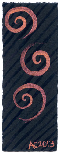 Spiral Bookmark 7 by Amy Crook