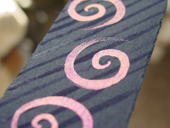 Spiral Bookmark 7, detail, by Amy Crook