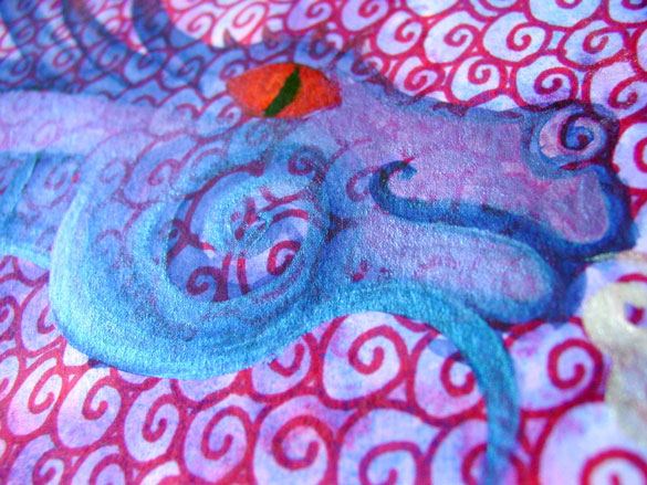 Spiral Dragon, detail, by Amy Crook