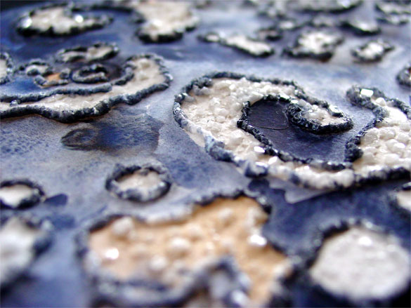Spiral Islands, detail 2, by Amy Crook