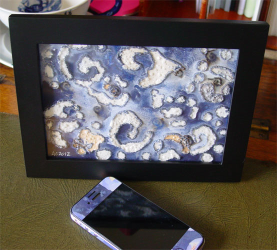 Spiral Islands, framed art by Amy Crook