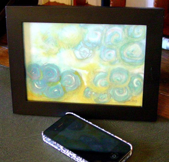 Spiral Sunrise, framed art by Amy Crook