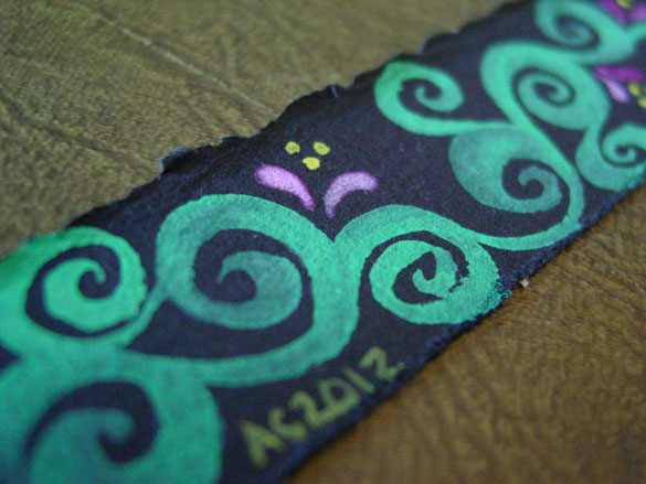 Spiral Vines Bookmark, detail, by Amy Crook
