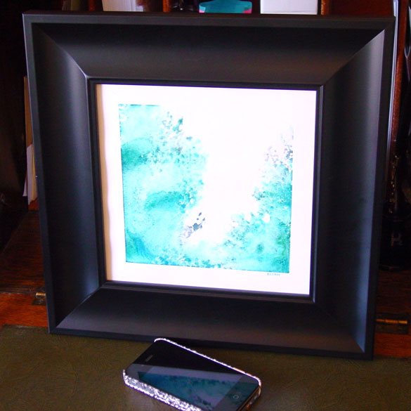 Splash 2, framed art by Amy Crook