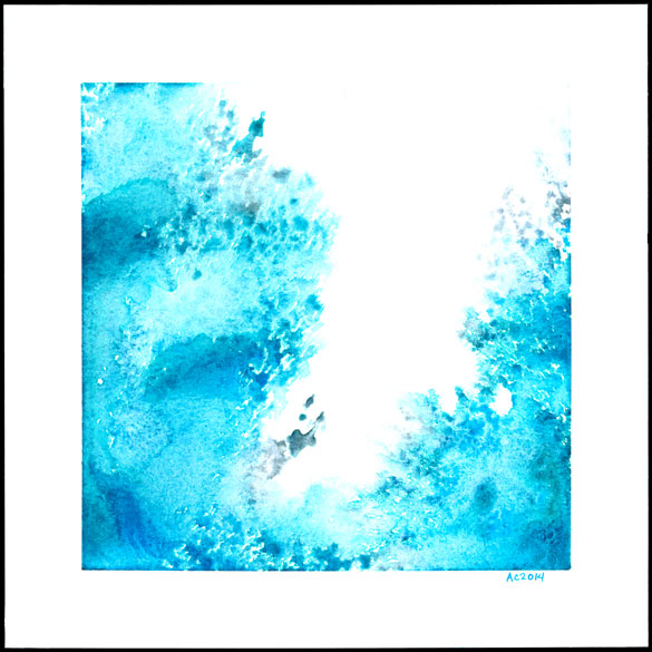 Splash 2, abstract watercolor by Amy Crook