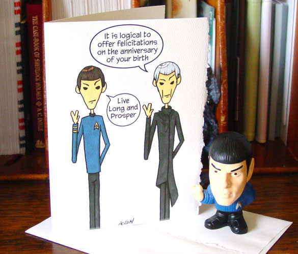 Spock birthday card by Amy Crook on Etsy