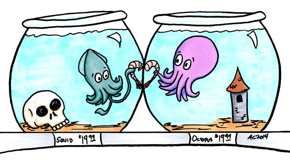 Shrimp-Crossed Lovers, comic by Amy Crook