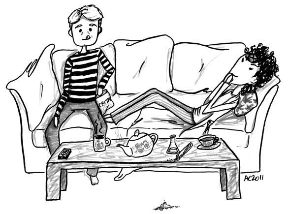Baker Street Domesticity, cartoon by Amy Crook