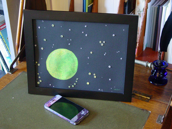The Stars Are Right 3, framed art by Amy Crook