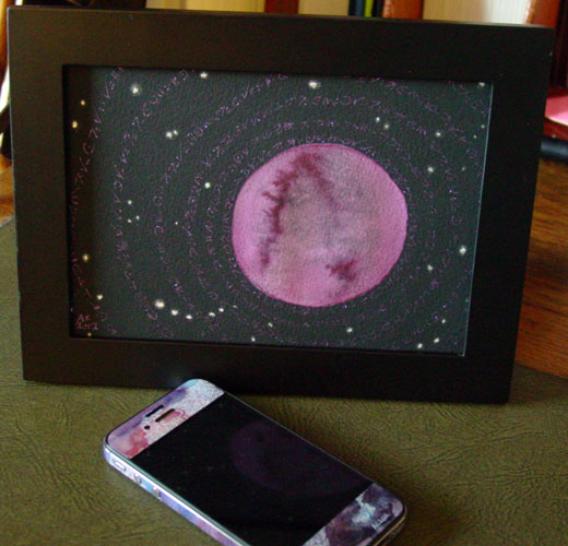 The Stars Are Right 6, framed art by Amy Crook